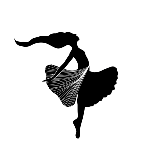 Bailarina biloba baile en el aire